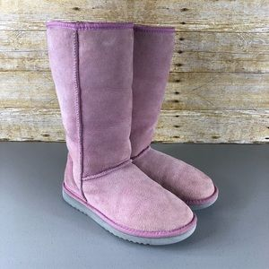UGG Pink Classic Tall Boots Sz 8